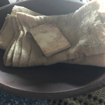 Towel with Cheesecloth and Soap