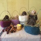 Felted Basket with Beeswax Bunny