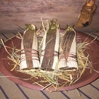 Beeswax Corn Cobs Wrapped in Corn Husks with Sweet Annie