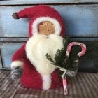 Santa Felted in Red