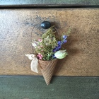 Beeswax Waffle Cone with Dried Flowers