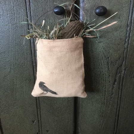 Fall Muslin Bag with Corn Cob