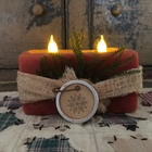 Double Holiday Flicker Candle