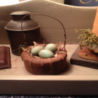 Beeswax Basket and Eggs